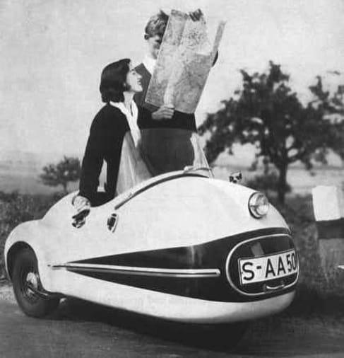 Vintage Strange Two Seat Car