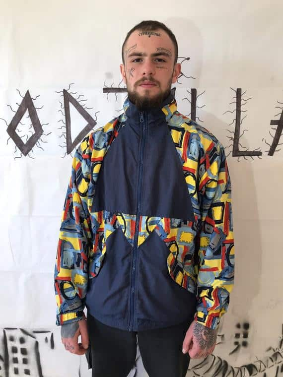colorful vintage tracksuit men