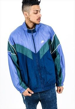 blue vintage tracksuit men