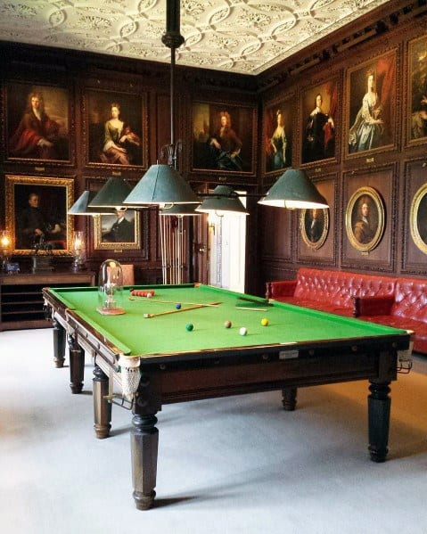 Vintage Traditional Billiards Room Ideas
