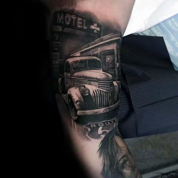 Vintage Truck Guys Sweet 3d Inner Arm Tattoos