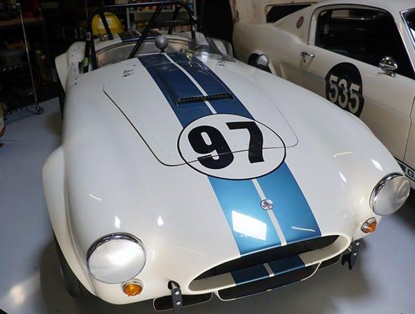 Vintage White Cobra Racecar