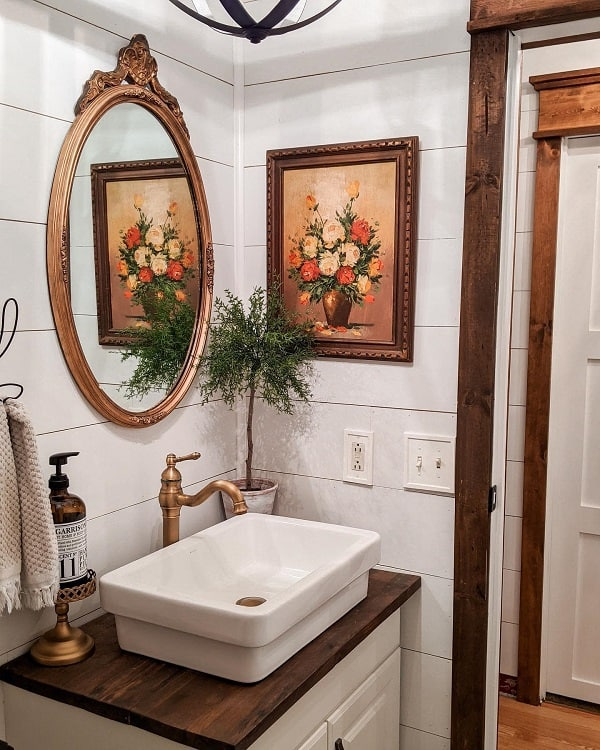 Vintage Wood Rustic Farmhouse Bathroom Gagirl Vintagedecor