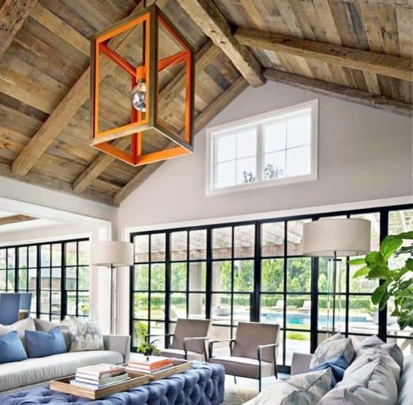 Basement Layout Design Ideas: Top 70 Best Vaulted Ceiling Ideas