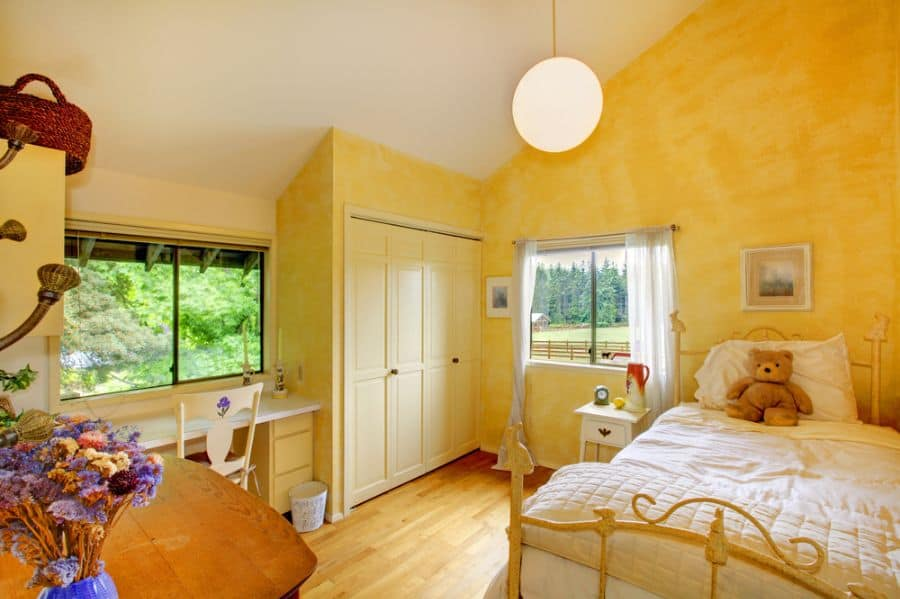 vintage yellow bedroom ideas 2