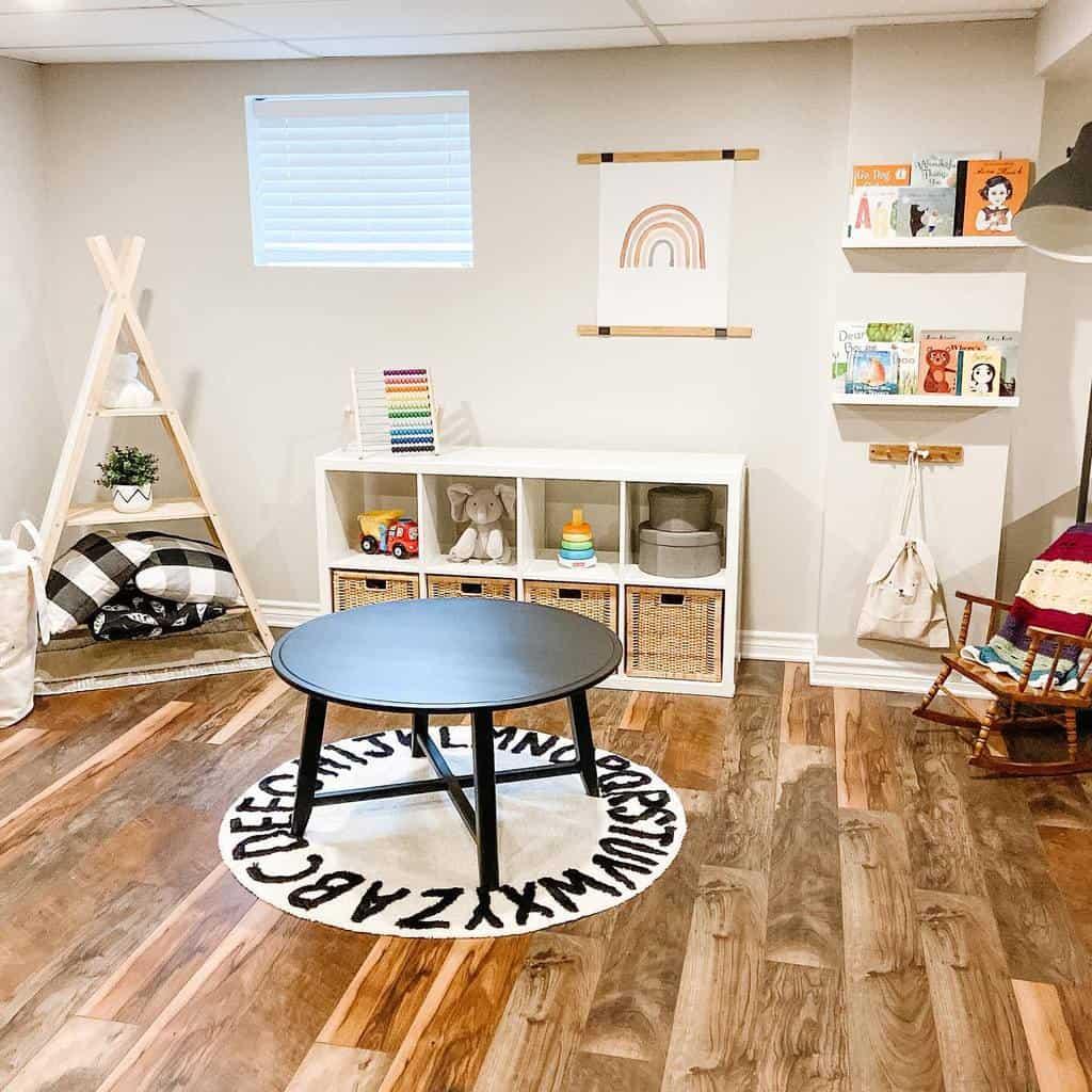 vinyl basement floor ideas jennaraeinteriors