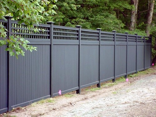 Vinyl Black Design Ideas Privacy Fence