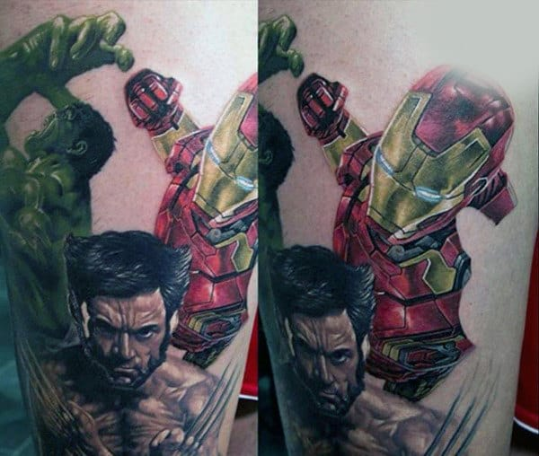 Violent Hulk Tattoo Male Forearms