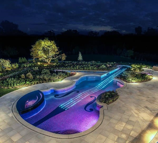 Violin Shaped Pool Lighting Led
