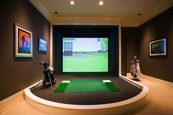 Virtual Golf Mens Game Room Ideas