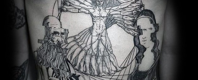 Vitruvian Man Tattoo Designs For Men