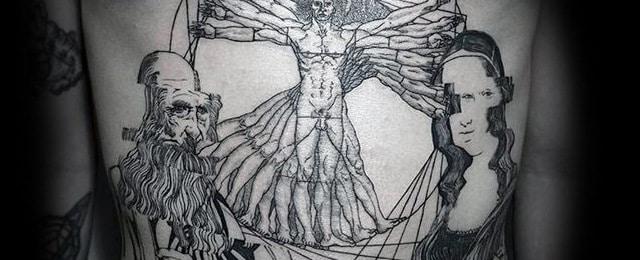 50 Vitruvian Man Tattoo Designs For Men – Da Vinci Ink Ideas