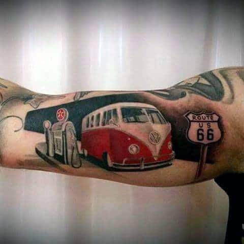Volkswagen Wv Male Tattoos