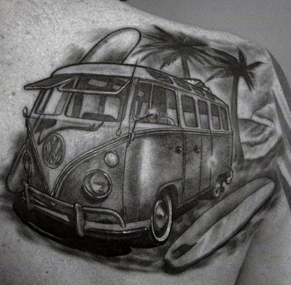 Volkswagen Wv Mens Tattoo Designs
