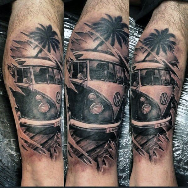 Volkswagen Wv Tattoo Ideas For Males