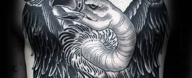 Vulture Tattoo Designs For Men