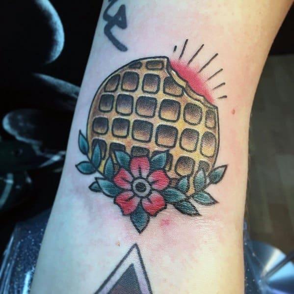Waffle Tattoo Designs For Gentlemen