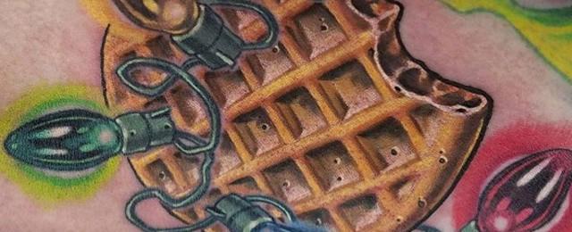 Waffle Tattoo Ideas For Men