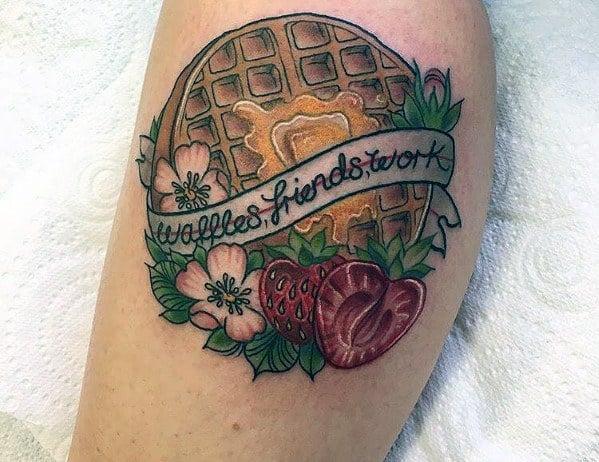 Waffle Tattoo Inspiration For Men