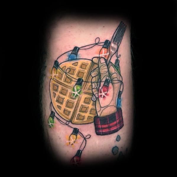 Waffle Tattoos For Gentlemen