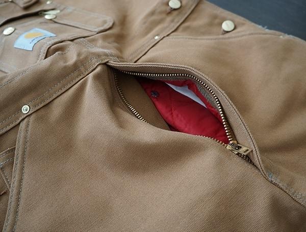 Waist Zipper Compartment Carhartt Quilt Lined Zip To Thigh Bib Overalls