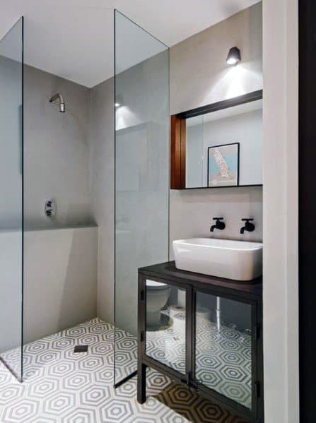 Walk In Glass Corner Shower Design Inspiration
