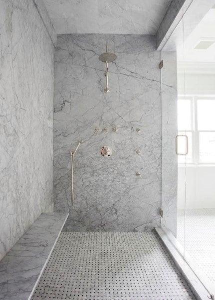 Walk In Shower Square Cubes Bathroom Floor