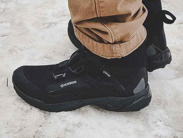 Walking Through Ice And Snow Icebug Walkabout Bugrip Gore Tex Boots For Men