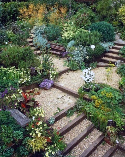 Walkway Backyard Design Ideas Gravel Landscaping
