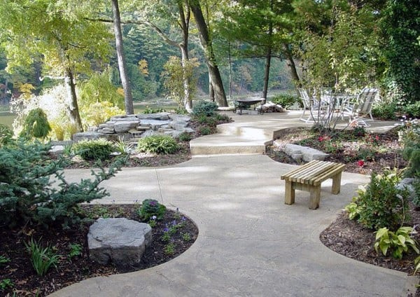 Walkway Landscaping Ideas Around Concrete Patio