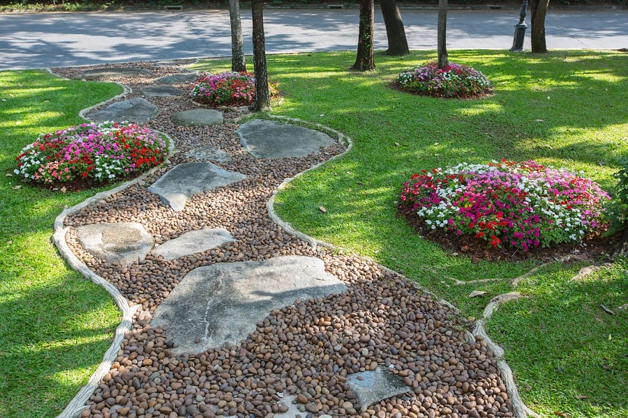 Natural Stones Walkway Ideas