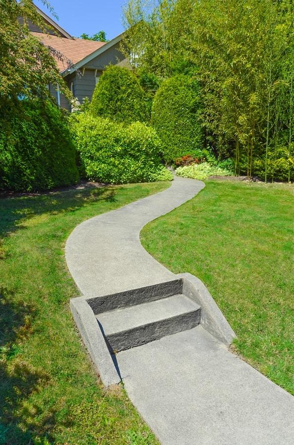 Stacked Stone Modern Walkway Ideas