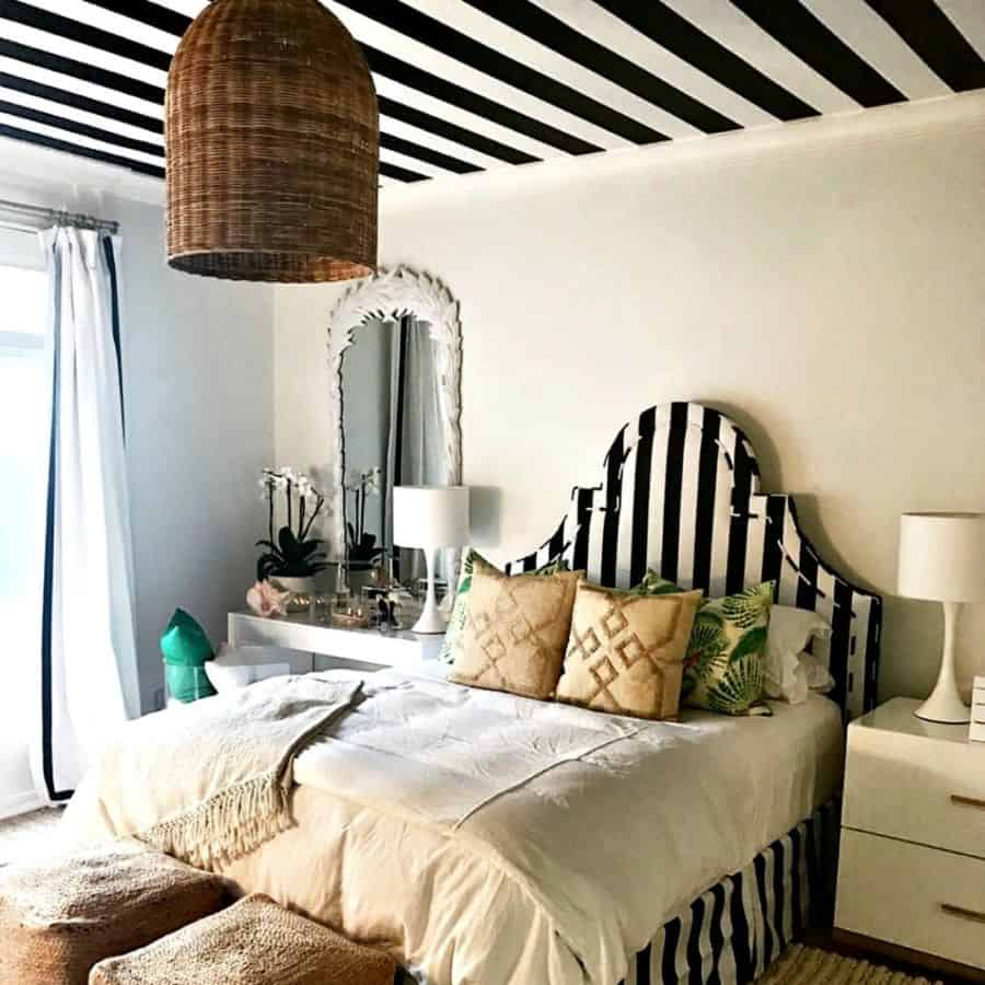 wall and ceiling black and white bedroom ideas cherylphan1
