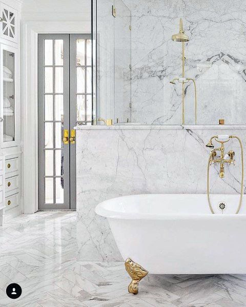 Wall And Floor Design Ideas Marble Bathroom