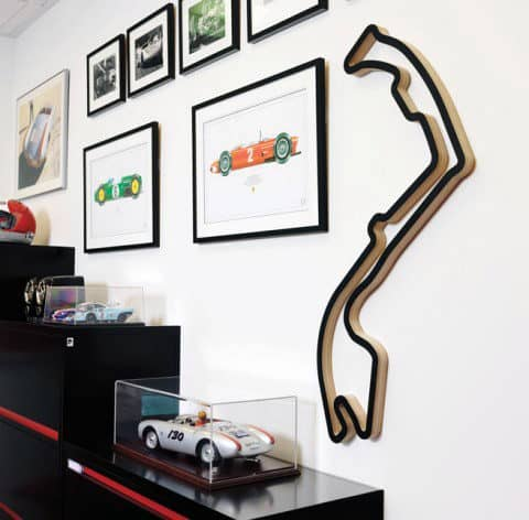 Wall Art Race Track Outline Man Cave Decor
