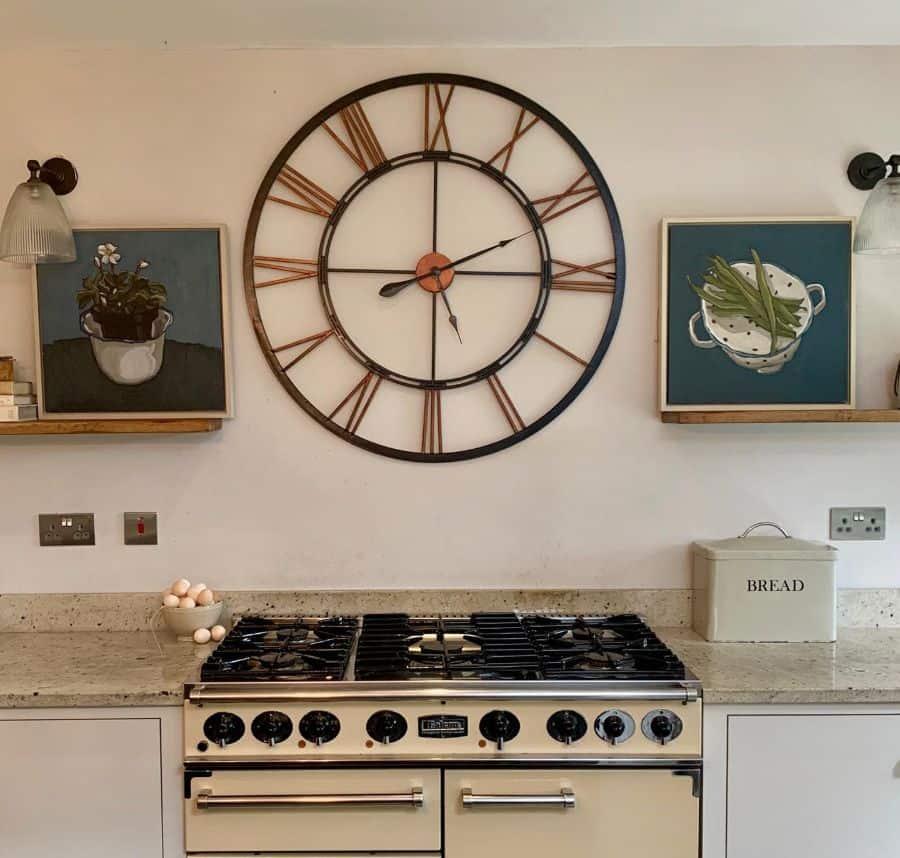 wall clock kitchen wall decor ideas carinahaslamgallery