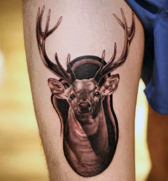 90 deer tattoos for men manly outdoor designs rh nextluxury com deer head tattoo designs deer head tattoo geometric