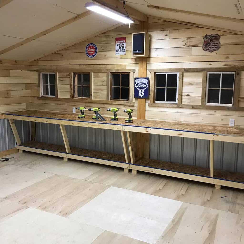 wall mounted work bench ideas resurrectedcarpentry