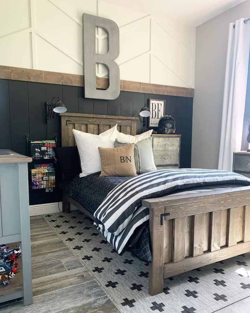 wall panelling farmhouse bedroom ideas ourrusticparadise