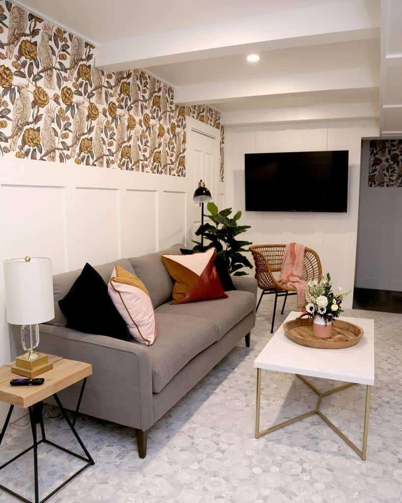 wall paper basement wall ideas vfynes