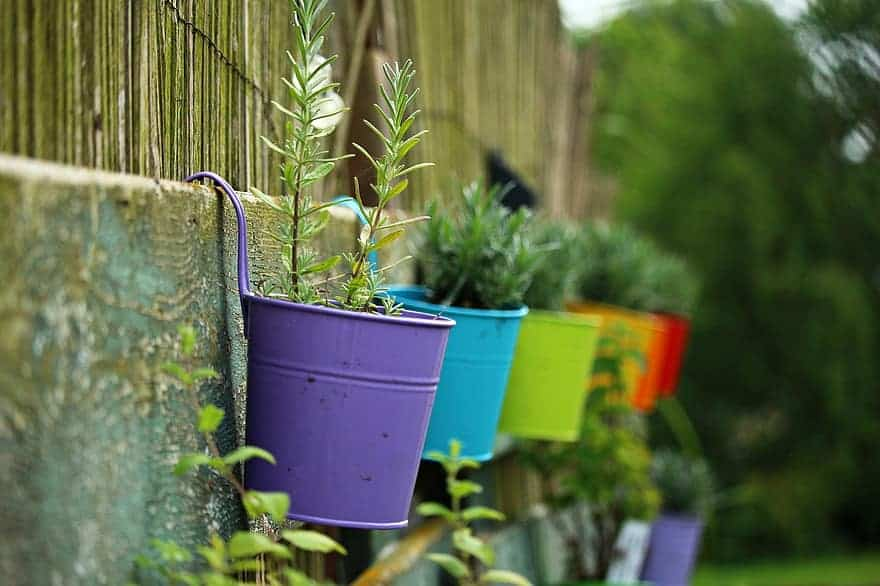 wall planter herb garden ideas