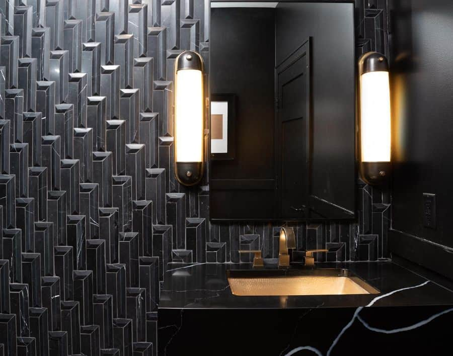 Wall Powder Room Ideas Lauralieninteriors