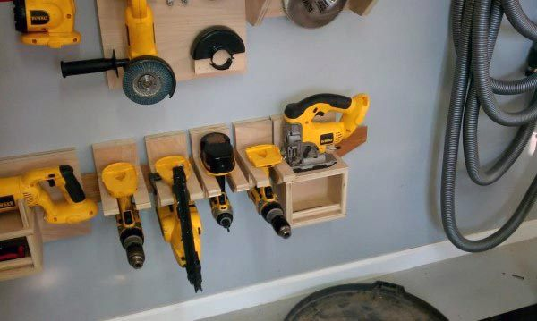 Wall Power Tool Storage Ideas