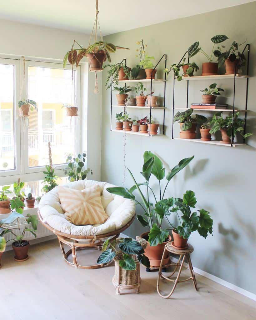 wall shelf and wall planter indoor garden ideas plantenerd