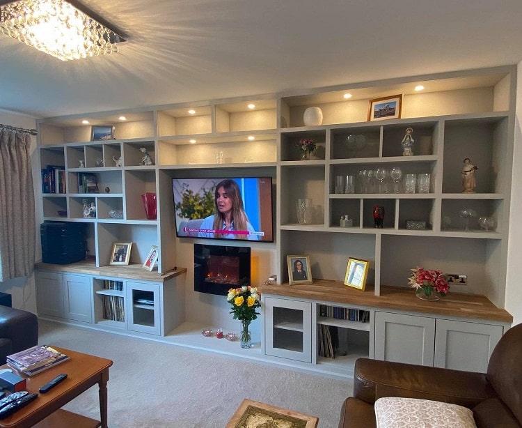 Wall Shelves Fireplace Entertainment Center