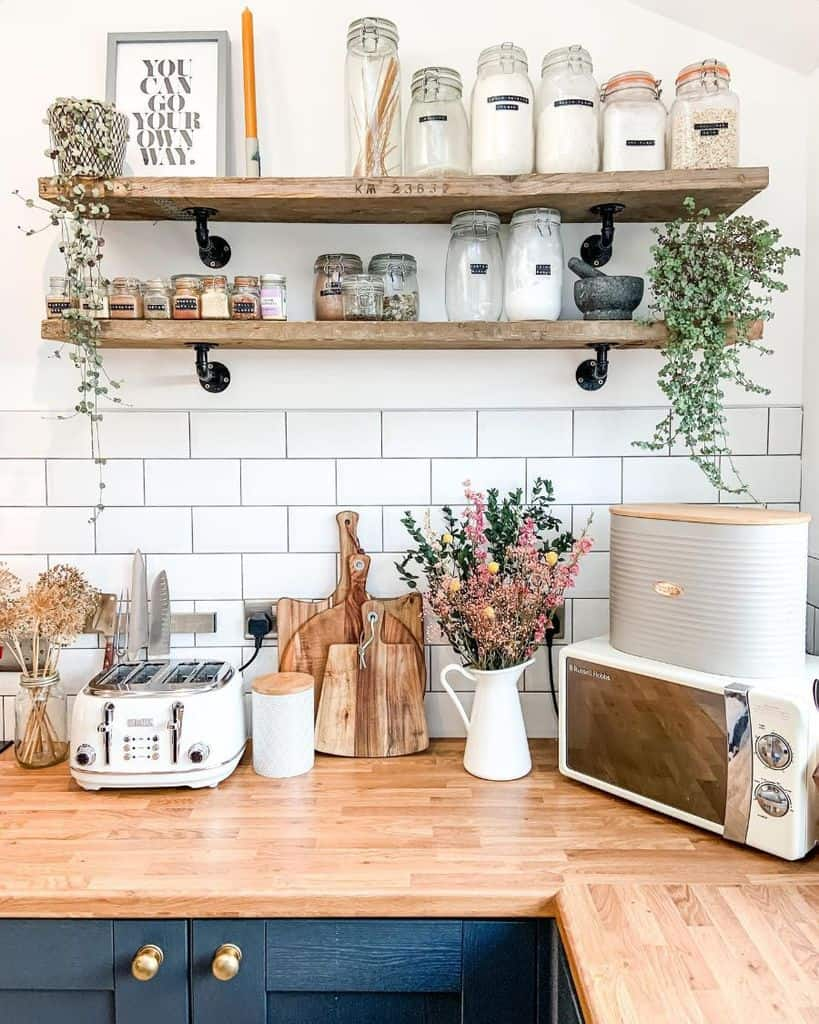 wall shelves kitchen storage ideas homeforwillow