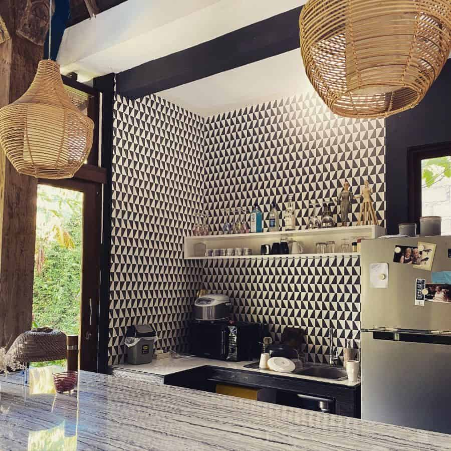 wallpaper kitchen wall decor ideas hummingbird_wallpaper