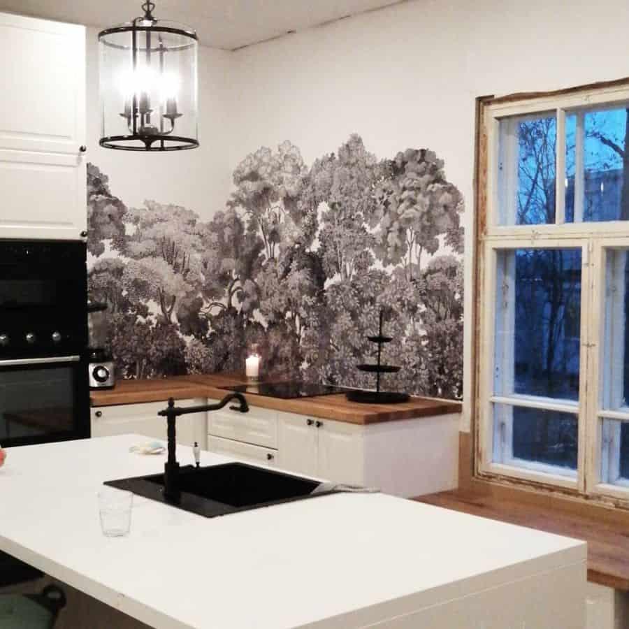 wallpaper kitchen wall decor ideas lounatuulentalo
