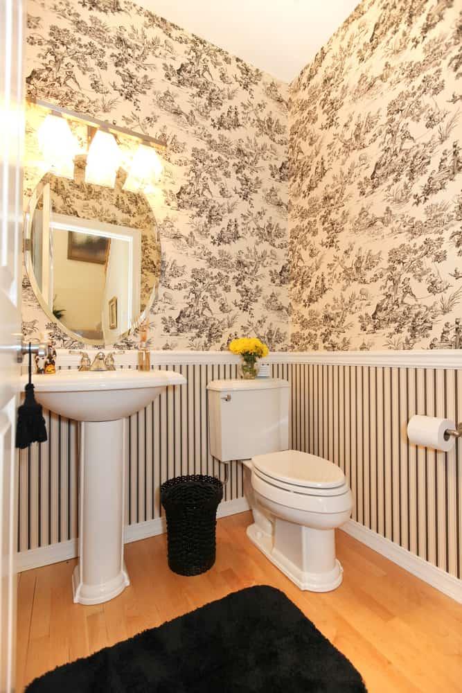 Wallpaper Powder Room Ideas 1