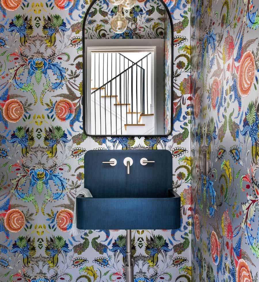 Wallpaper Powder Room Ideas 2 Costachristmedia